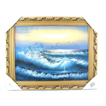 Obraz olejny motyw morski średni
