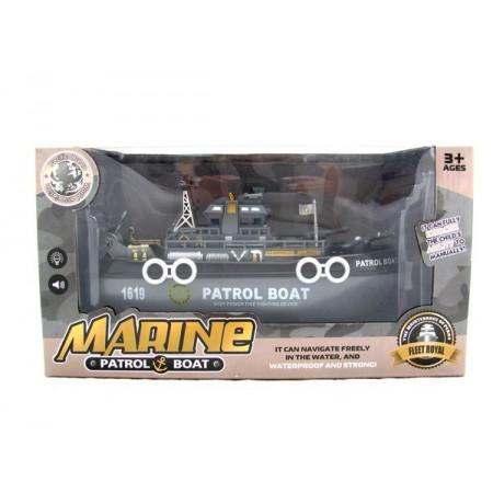 Łódka patrol Marine szara
