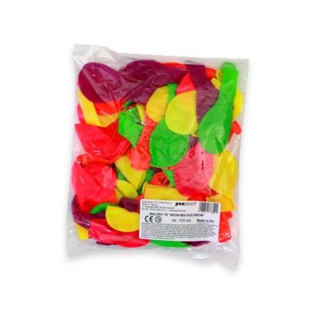 """Balon neon 10"""" mix 100szt."""