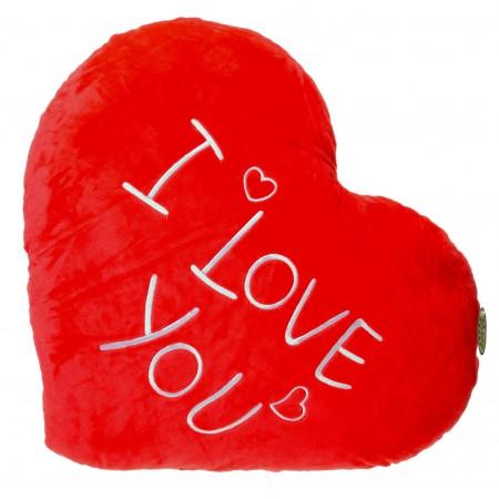 Duże serce pluszowe I Love You