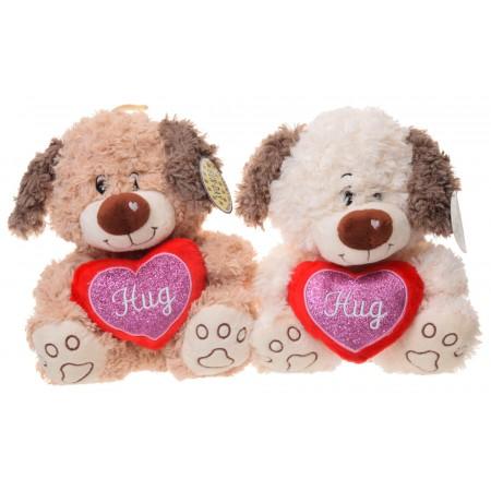 Pies z sercem Hug