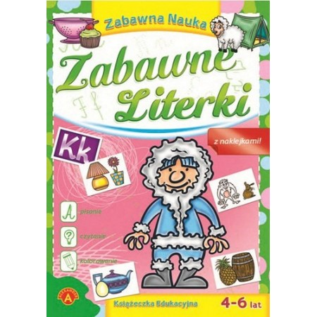 Książeczka edukacyjna - Zabawne Literki