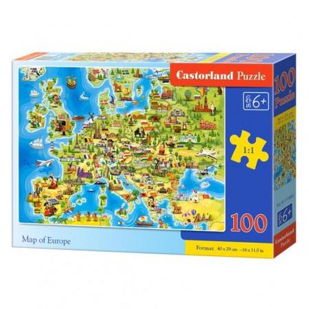 Puzzle 100 el. Mapa Europy