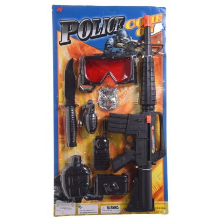 Komplet policja z lizakiem