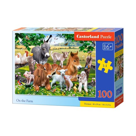 Puzzle 100 el. On the farm  - FARMA