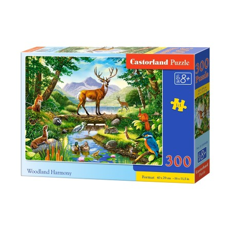 Puzzle 300 el. Woodland Harmony - Leśna harmonia