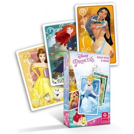 Karty Czarny Piotruś i Memo Księżniczki Disney