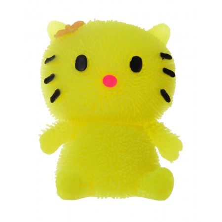 Gniotek kotek gumowy święcący