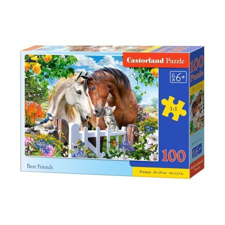 Puzzle 100 el. Best Friends - Konie