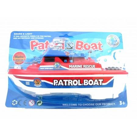 Łódka patrol baterie plastik
