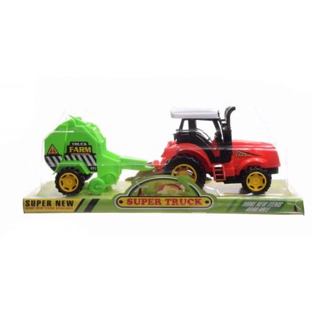 Traktor z prasą.