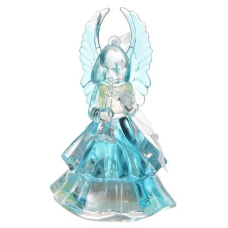 Aniołek szklany mały świecący