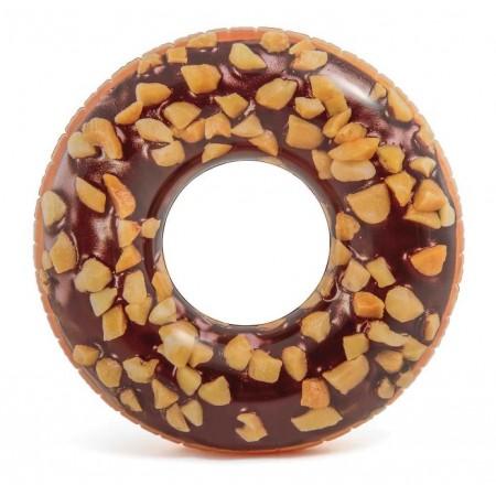 Koło do pływania donut w polwie czekoladowej z orzeszkami