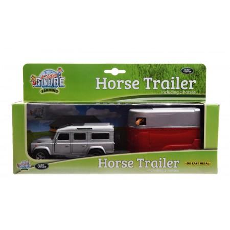 Land Rover z przyczepą dla konia