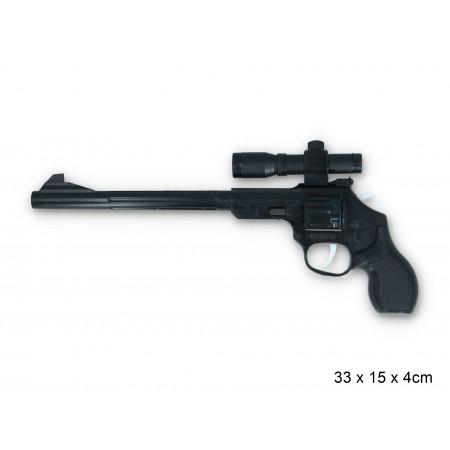 Pistolet na spłonke długi czarny