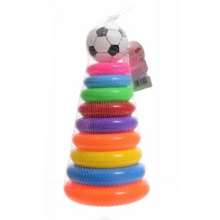 Piramidka edukacyjna z piłką
