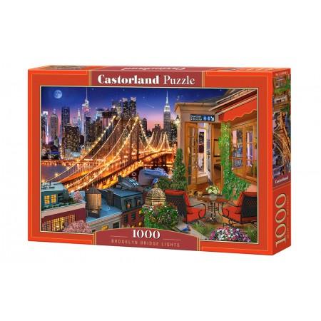 Puzzle 1000 el. Brooklyn Bridge Light - Światła na moście Brooklińskim