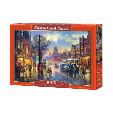 Puzzle 1000 el. Abbey Road 1930s - Ulica Abbey w 1930 roku