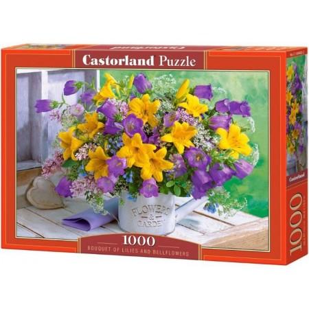 Puzzle 1000 el. Bouquet of Lilies and Bellflowers - Bukiet lilli i dzwoneczków