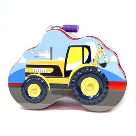 Metalowa skarbonka traktor