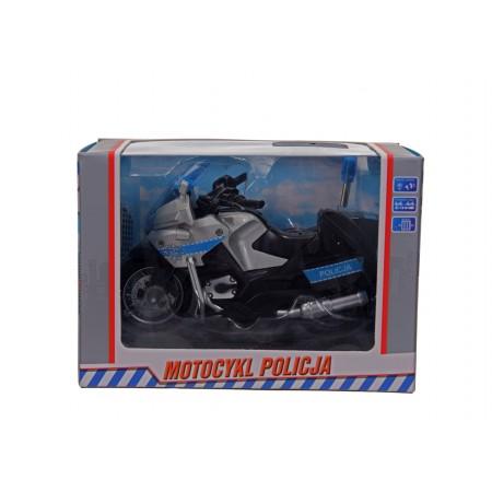 Motocykl policyjny światło dźwięki.