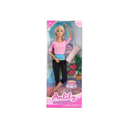 Lalka Anlily ćwiczy jogę